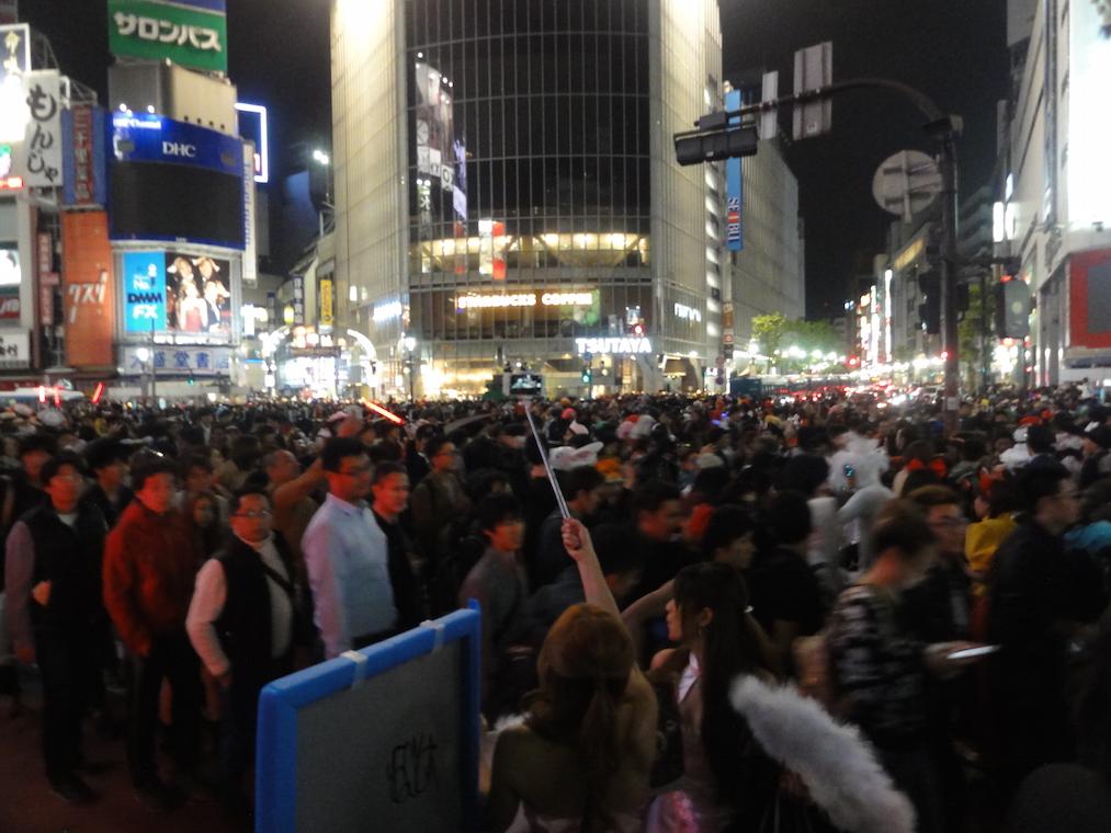 渋谷ハロウィンイベントの様子